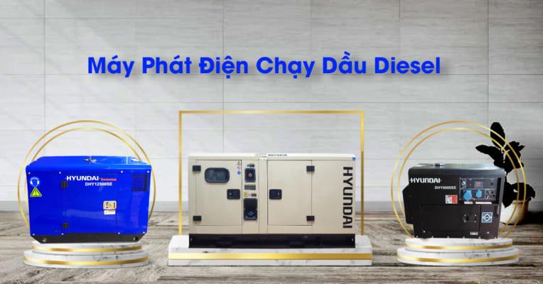 Máy phát điện chạy dầu diesel hyundai