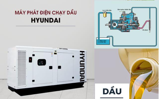 Máy phát điện chạy dầu HYUNDAI